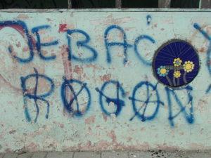 wlepki, mozaiki streetart
