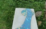 blat-beton polerowany inkrustowany mozaiką