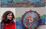 """""""Czas nie zna granic: mural na elewacji Barlineckiego Ośrodka Kultury"""
