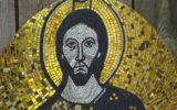 Chrystus Pankrator, kopia mozaiki z grobu św. Piotra w Watykanie